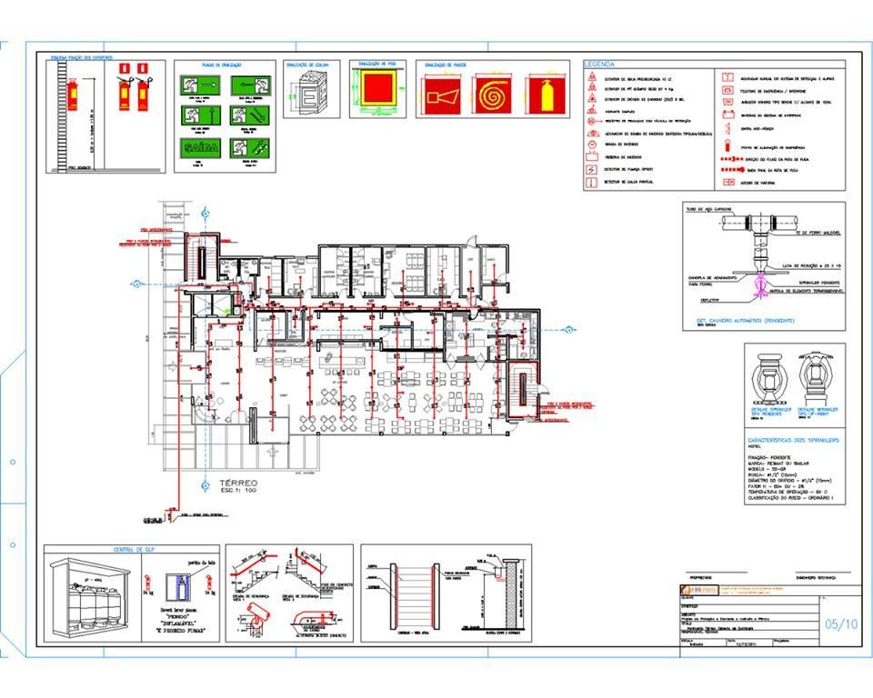 Elaboração de projeto de incêndio