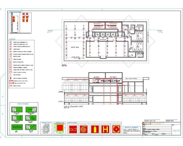 Projeto preventivo de incêndio