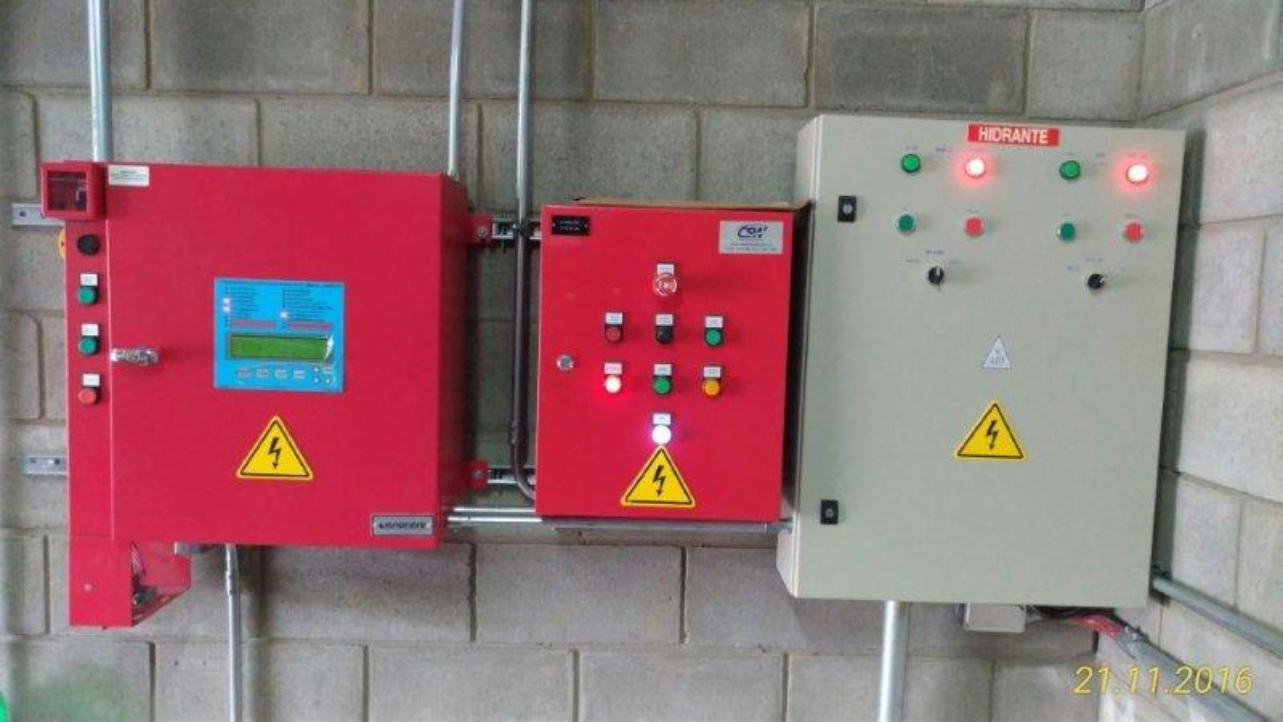 Sistema sprinkler anti-incêndio