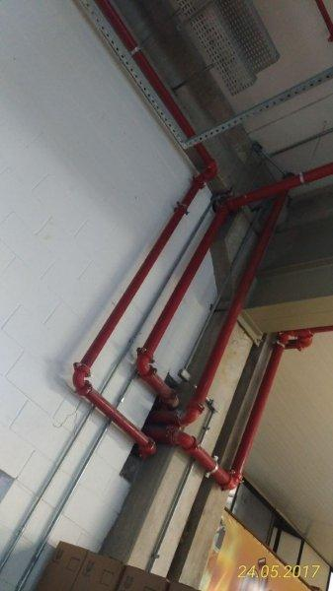 Sistema sprinkler contra incêndio