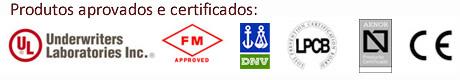 Produtos aprovados e certificados